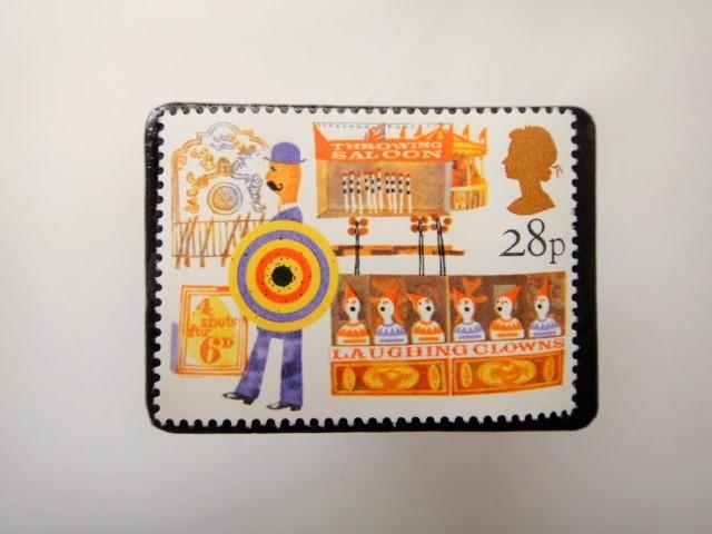 イギリス 切手ブローチ3429
