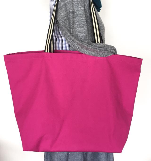 帆布のbigトートバッグ*ピンク
