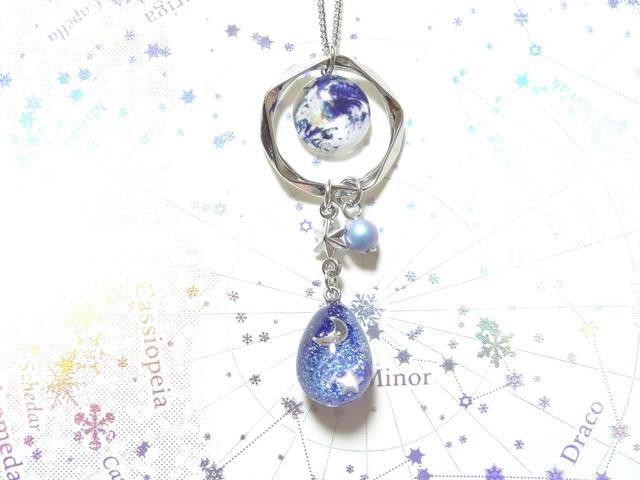 ☆地球と銀河の卵のネックレス☆