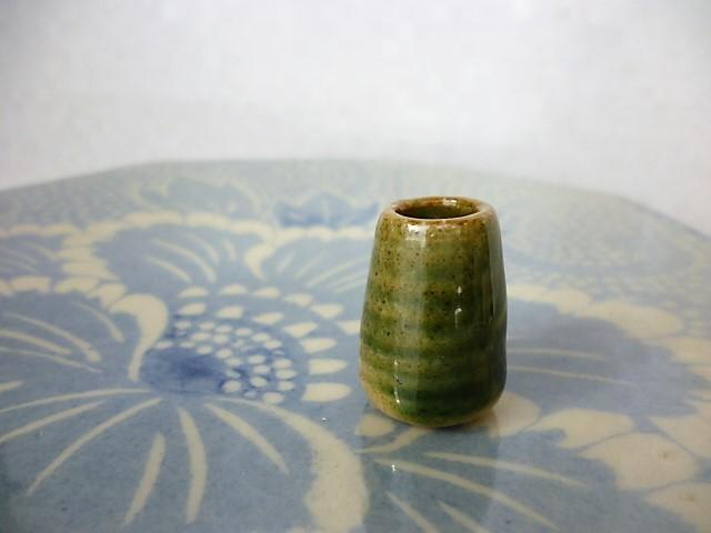 ミニチュア陶器☆花入 長おりべ