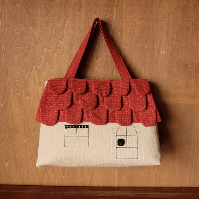 ouchi-bag   L   レンガ色うろこ屋根のおうち