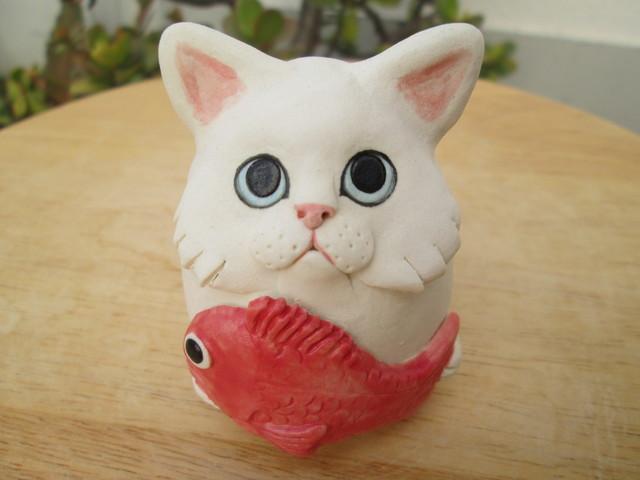 SALE¥3300?¥2500 めで鯛ねこ(白)