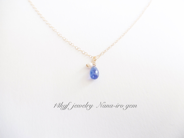 14kgf tanzanit pearl necklace minne 14kgf tanzanit pearl necklace mozeypictures Gallery