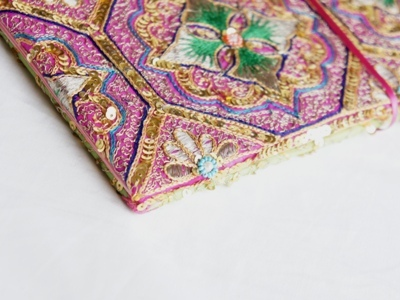 インド古布で作ったフォトブック 2