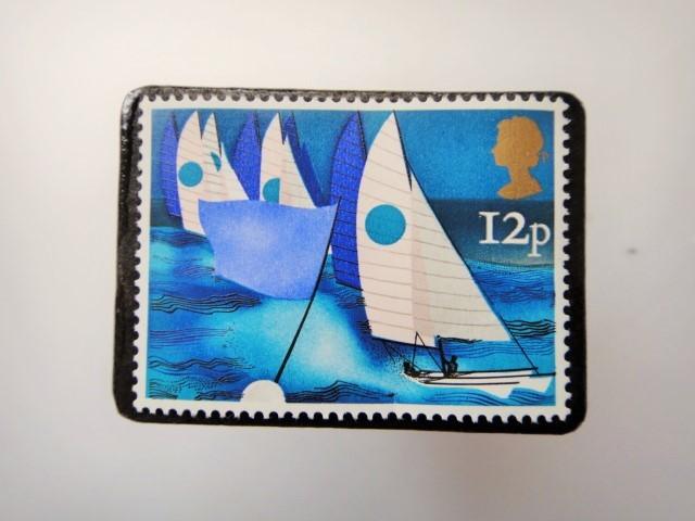 イギリス 切手ブローチ3436