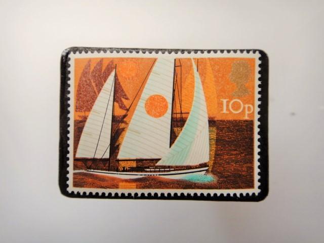 イギリス 切手ブローチ3437