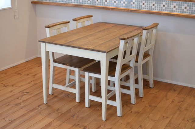 【 Dining table set 】 チャーチチェ...