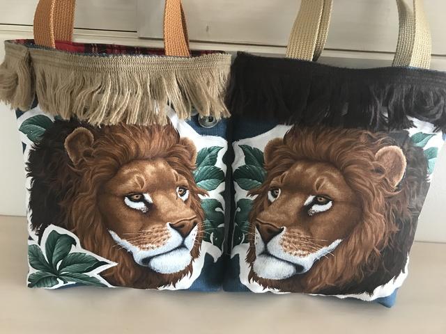 ライオンのリアルサファリなトートバッグ
