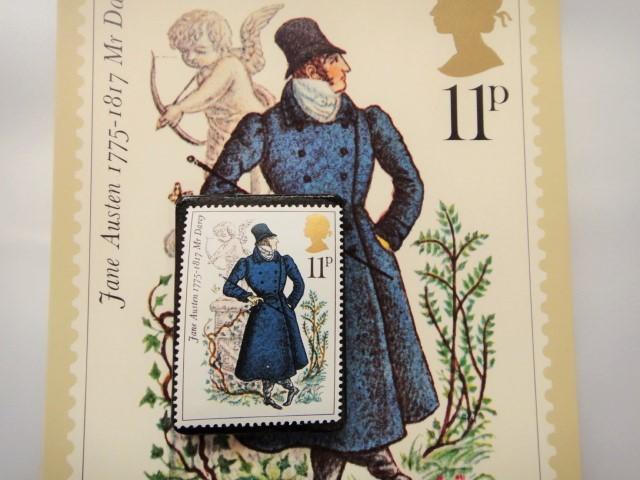イギリス 切手ブローチ(ポストカード付...