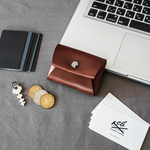 【Mサイズ】Leather Coin Case 本革カードケースコインケース 一枚革仕上げ