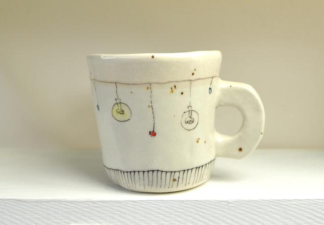 裸電球のマグカップS【白】