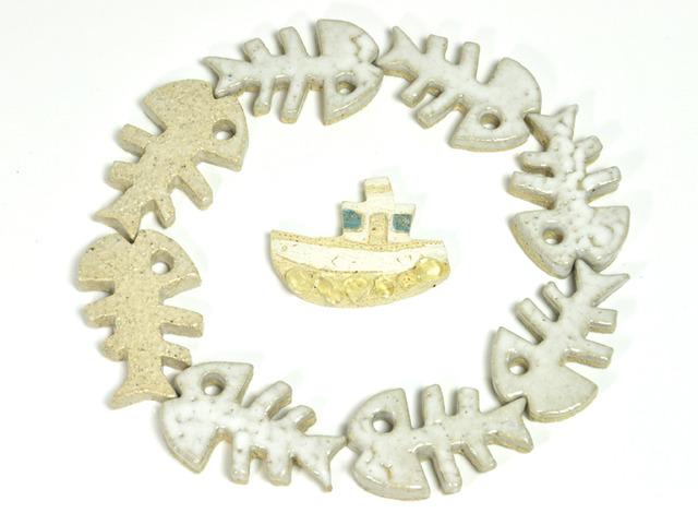 化石の箸置き(魚)