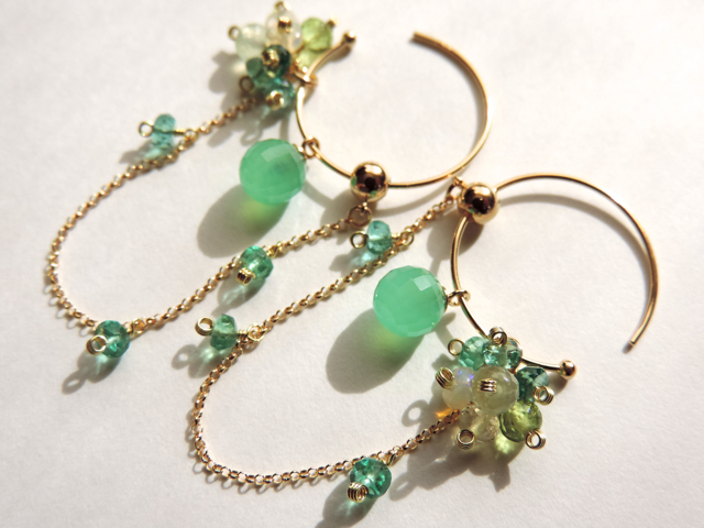 『 Floral greenery 』Pierce & charm b...