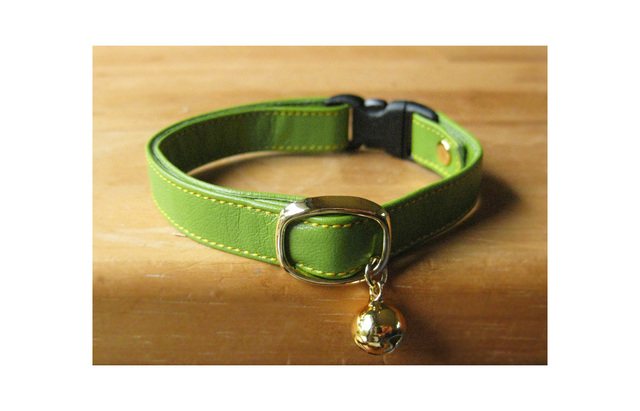 cat collar * apple green