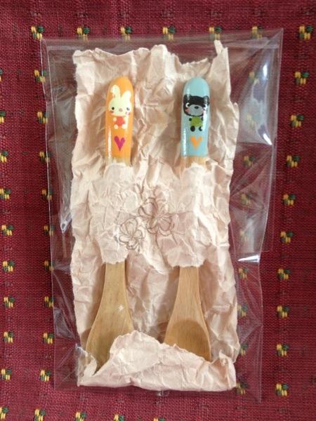 木製スプーン<うさぎ.くま>