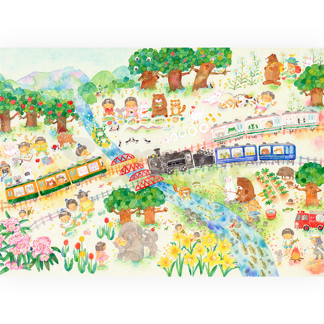 A4  ぼくの好きな季節 アートプリント(複製画)FA4-0324