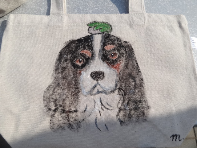 <オーダー>愛犬・愛猫、愛鳥その他動物の似顔絵バッグS(両面)