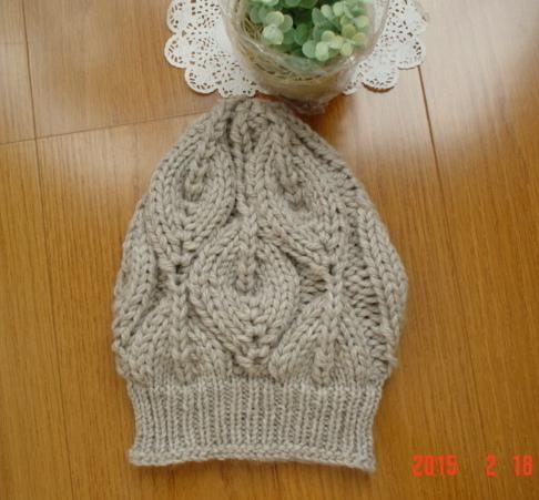 ☆彡bonfire(篝火)のknit帽ライトグレー色(とんがりタイプ)