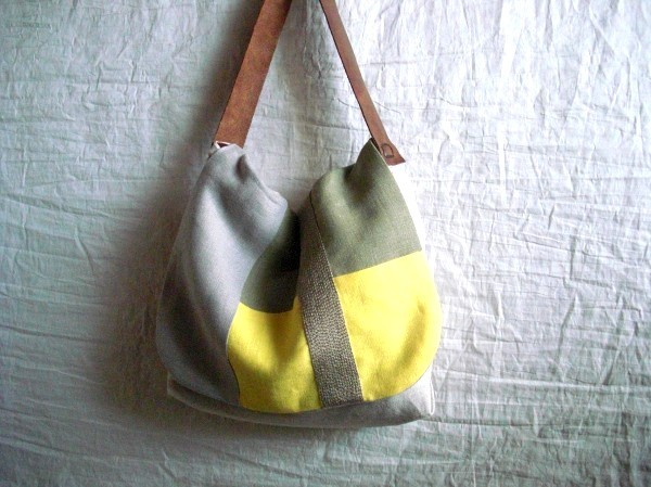 itoiro bag (yellow&khaki)