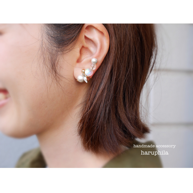 gradation asymmetry pierce/earring