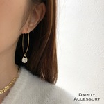◇301◇Cubic Zirconia Dropwire Earring/Pierce