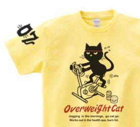 【再販】フィットネスバイクと猫 150.160.(女性M.L) S〜XL Tシャツ【受注生産品】