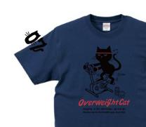 フィットネスバイクと猫 XS〜XL Tシャツ【受注生産品】