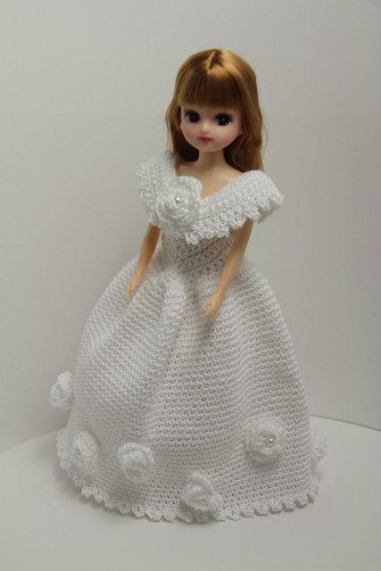 リカちゃん 白い薔薇のドレス