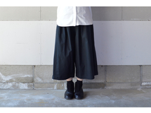 WIDE PANTS BLACK【M~L】(COTTON VIYELLA )