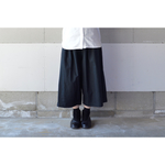 【2018 S/S】WIDE PANTS BLACK【M~L】(COTTON VIYELLA )