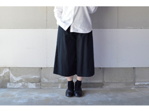 WIDE PANTS BLACK【S~M】(COTTON VIYELLA )