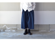 WIDE PANTS NAVY【M~L】(COTTON VIYELLA )