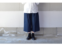 WIDE PANTS NAVY【S~M】(COTTON VIYELLA )