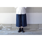 【2018 S/S】WIDE PANTS NAVY【S~M】(COTTON VIYELLA )