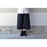 2018 S/S - RAISED FABLIC WIDE PANTS BLACK【S~M】