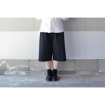 【2018 S/S】RAISED FABLIC WIDE PANTS BLACK(SHORT)【S~M】
