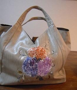 紫陽花の季節限定バッグ