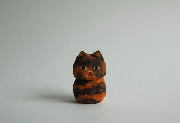 木彫り人形 ネコ サビ [MWF-017]