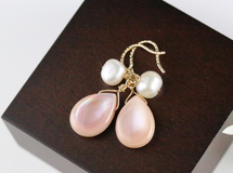 14kgf Pink shell&Fresh water pearl piace