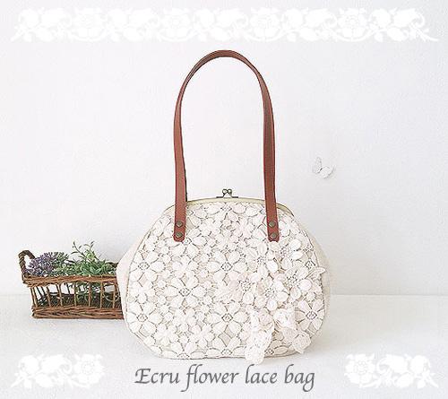 *再販* Ecru flower lace bag