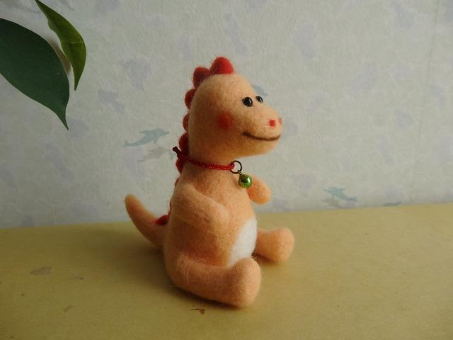 恐竜さん(オレンジ)