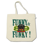 FUNNY&FUNKY! 金運招きパグ?(黒パグ)コットントートバッグ