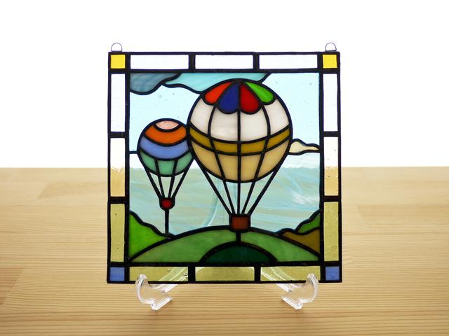 ステンドグラス ミニパネル バルーン 15cm