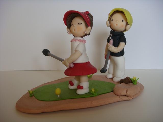 粘土人形 ゴルフ
