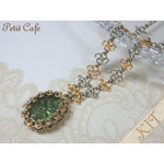 【キット】Vintage Bead Necklace (Green)<No.282>