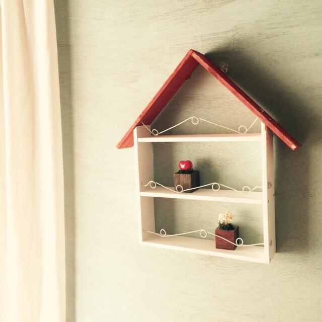 ☆赤い屋根のハウス型コレクションボード