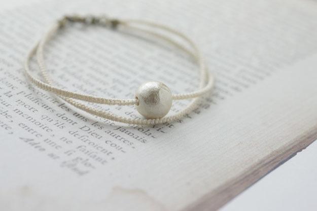 cottonpearl bracelet