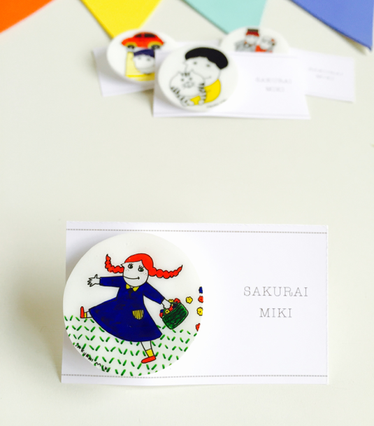 mitsuami girl/まるいブローチ