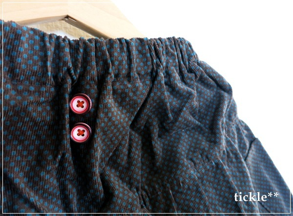 ピンドットのふんわりバルーンパンツ120サイズ