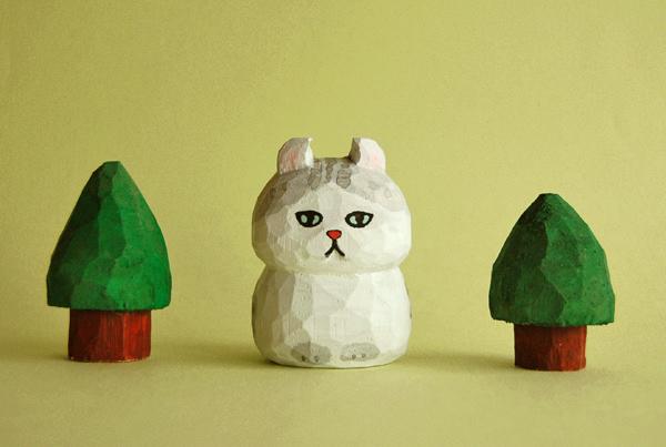 木彫り人形 アメリカンカール グレートラ [MWF-091]